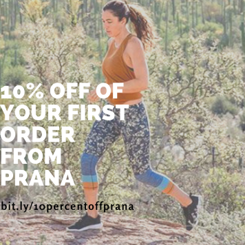 10% off of your first order from prAna